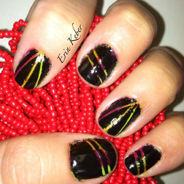 Nail Art Tape Strips: 124 Best Nails By Erin K Images On Pinterest