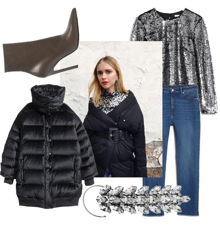 Johanna P. Blog - Fashion Mood Board - Pernille Teisbaek - Denim, Balenciaga shoes, Sequin top.