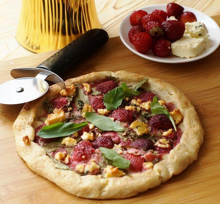 Диетическая пп пицца на творожном тесте с рукколой и клубникой! - диетическая пицца / диетические бургеры  - Полезные рецепты - Правильное питание или как правильно похудеть