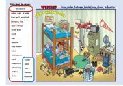English teaching worksheets: The bedroom