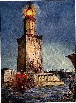 فنار الاسكندرية او فاروس باليونانية هو اول منارة بحرية في العالم و احد عجائب الدنيا السبعة القديمة