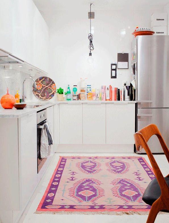 another kitchen rug #decor #cozinhas #kitchens