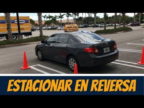 Como Parquear un Carro en Marcha Atras/Como Estacionar un Auto en Reversa - YouTube