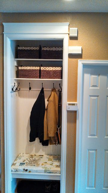 Foyer Closet Dimensions : The sampson home entryway closet makeover mud room