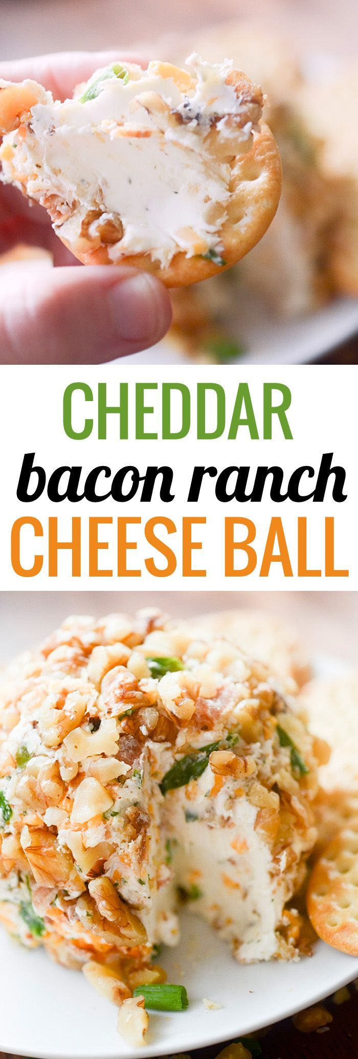 Cheddar Bacon Ranch Cheese Ball - perfect appetizer for any party.