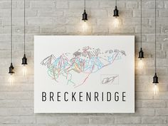 Christmas DIY: Breckenridge Ski Map Breckenridge Ski Map Art Trail Map Print Poster. #christmasdiy #christmas #diy
