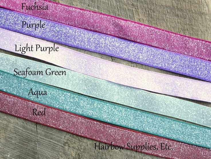 Frosted Glitter Elastic 5 yd 5/8 inch available in 6 colors!