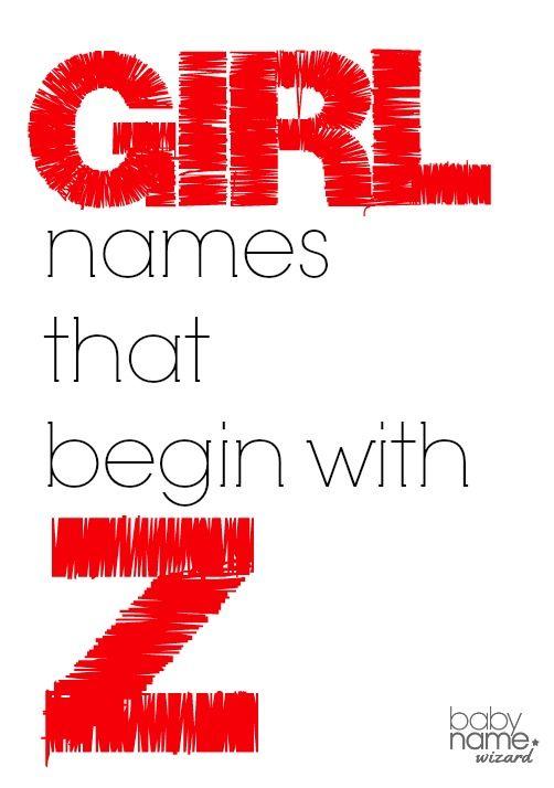 Girl names that begin with Z! #babynames