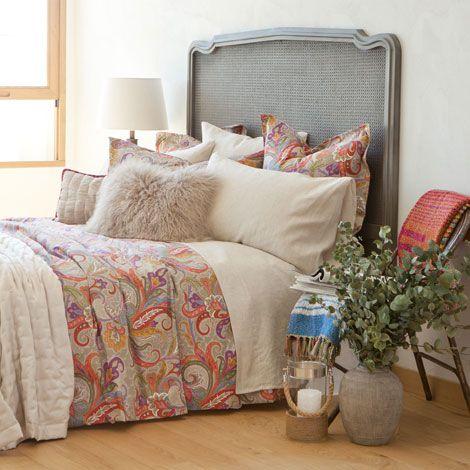 Paisley cotton bed linen zara home united kingdom the for Zara home bedroom ideas