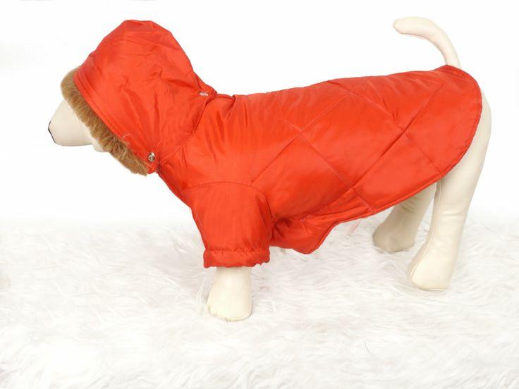 Impermeable para perro con forro polar interior. La capucha se puede quitar y poner. Ropa para #perros #impermeables #mascotas  www.facebook.com/bonimascotas