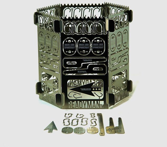 $29.95  This Survival Stove Is Filled With Survival Tools That You Can Snap Off As Needed