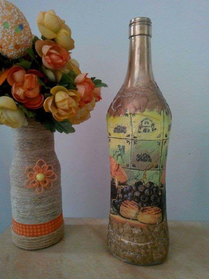 Vaza si sticla decor