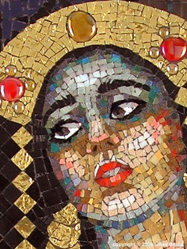 mosaic artwork | ... Guilt – mosaic portrait – Lilian Broca | Mosaic Art Source