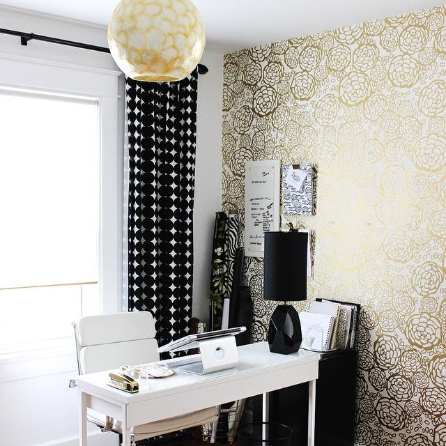 Black, white and gold can do no wrong. We adore this Petal Pusher office from Adore Magazine.