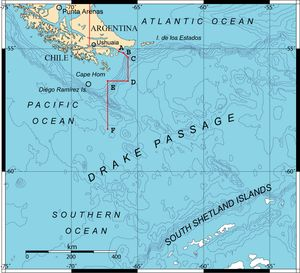 The part I'm most scared about... the Drake Passage. Rough seas to be certain.