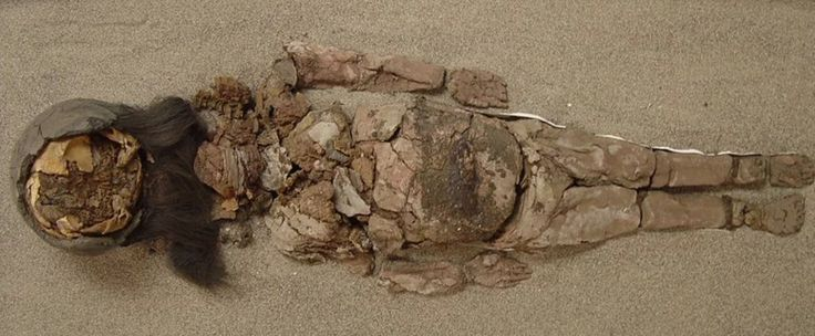 Chinchorro mummy  - A Chinchorro mummy –  at San Miguel de Azapa Museum in Arica, Chile; Arica is often referred to as the driest place on Earth, but locals say that is changing. Photograph: Vivien Standen/Washington Post