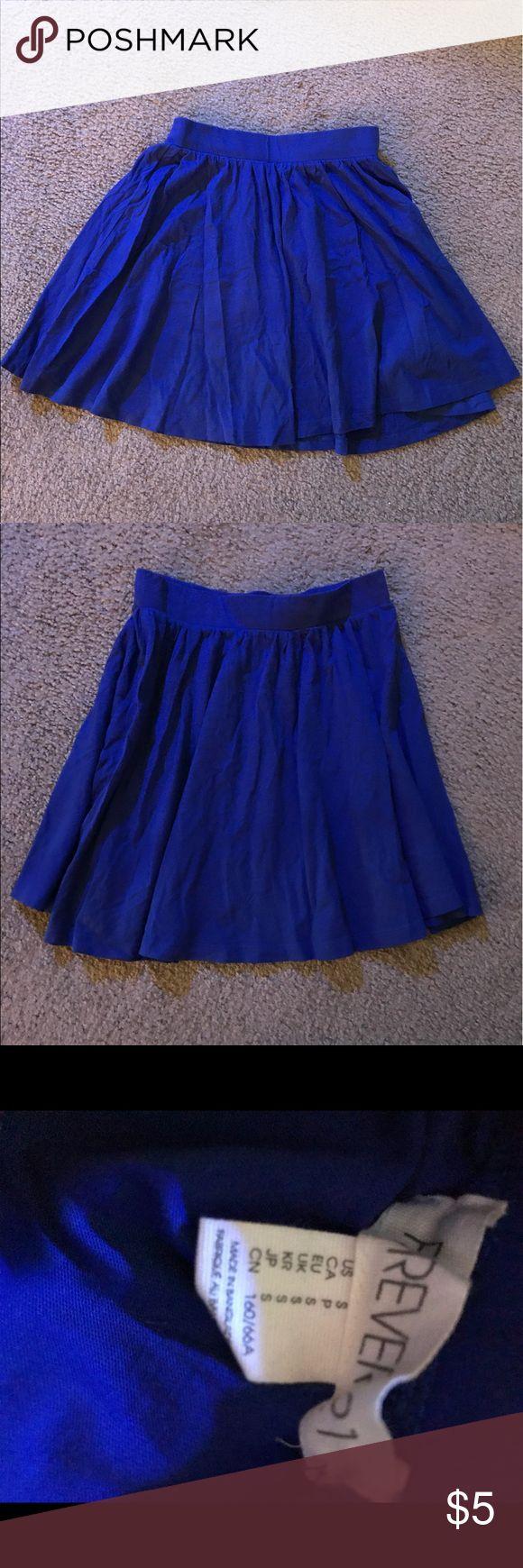 Blue Skater Skirt, Forever 21 Skirt, Cute Mini Gently used forever 21 skater skirt Forever 21 Skirts Circle & Skater