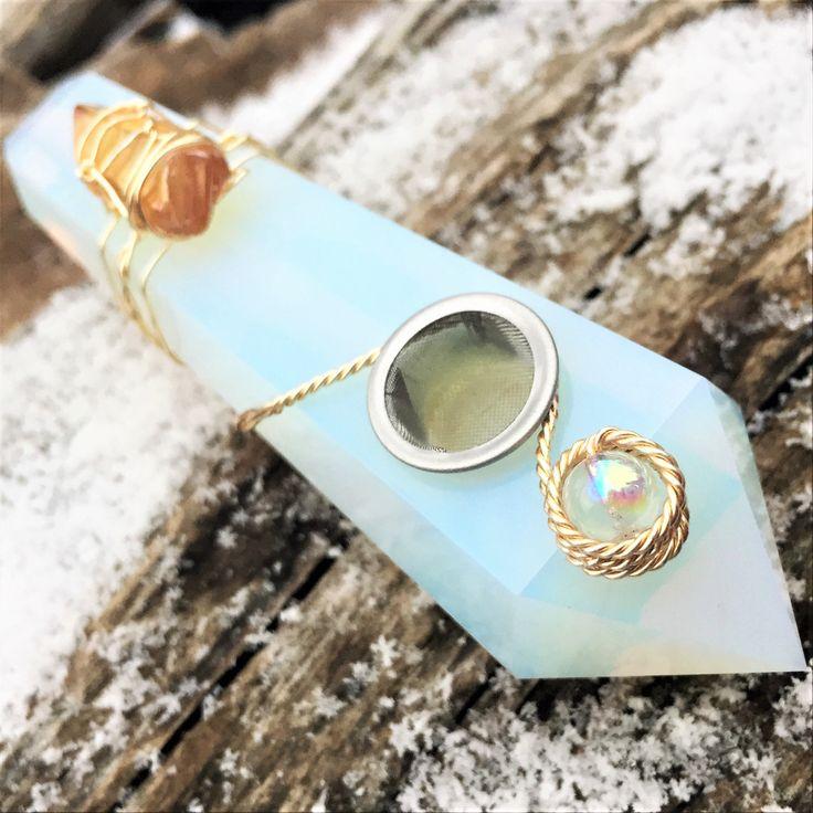 Opal Pipe, Custom Pipe, Opalite Pipe, Chakra Healing, Reiki Pipe, Pretty Pipe, Crystal Pipe, Stone Pipe, Crystal Gifts, Glass Pipe, Crystals by AutumnDawnChicago on Etsy https://www.etsy.com/au/listing/535182442/opal-pipe-custom-pipe-opalite-pipe