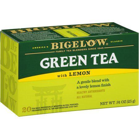 $2.53 Bigelow® Green Tea with Lemon 20 ct Box - Walmart.com