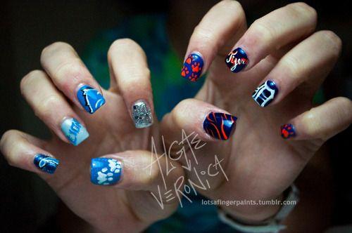 Tigger Nail Art