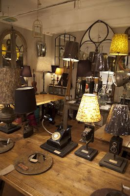 Lamps made from vintage / antique cameras