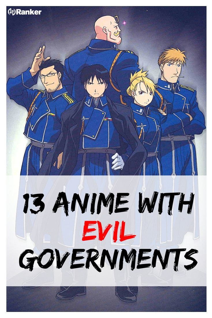 Anime shows where the government plays the villain the theme of corruption and evil characters in anime shows are very popular here is a list of anime