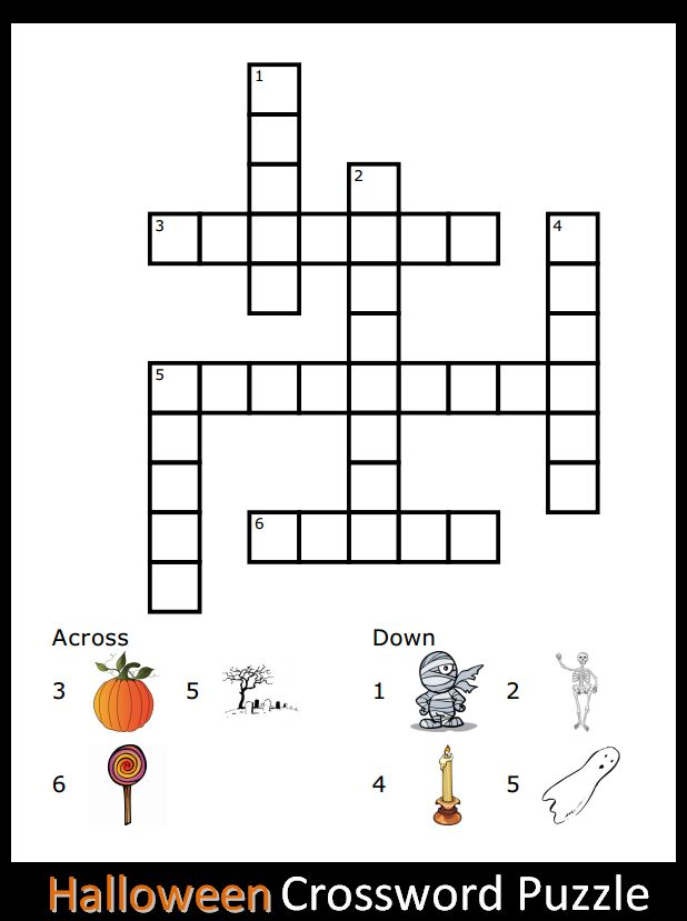 25 best ideas about halloween crossword puzzles on