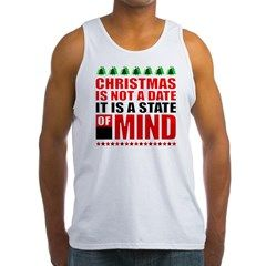 Christmas is a State of Mind Men's Tank Top. New Christmas shirt design. Tags Keyword: gifts christmas, grandma gifts christmas, hottest gifts christmas 2015, hot gifts christmas 2015, men gifts Christmas, make your own gifts christmas, kids crafts gifts christmas, inexpensive gifts christmas, popular gifts christmas 2015, parents gifts christmas, personalized baby gifts christmas, mothers gifts christmas, quick gifts christmas, railroad train gifts Christmas