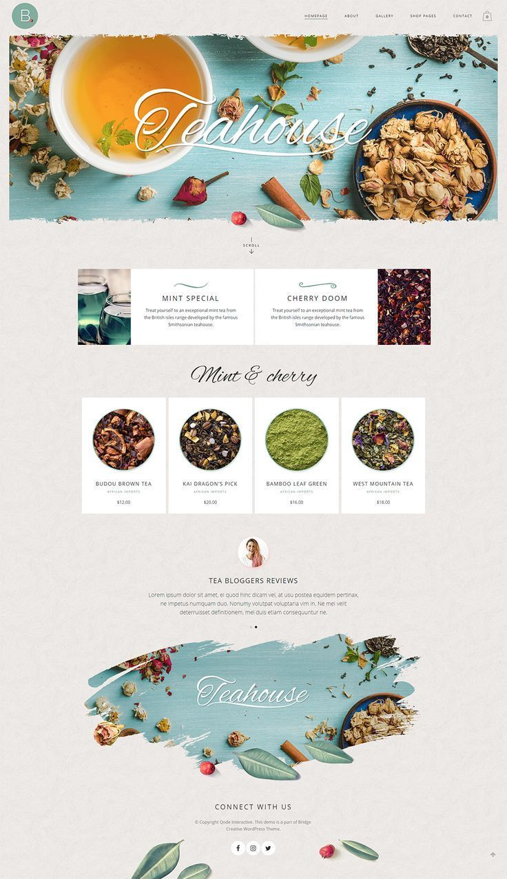 Showcase Your Tea Products And Make The Most Of Your Online Shop With Bridge We Honestly Believe You Website Design Inspiration Food Web Design Website Design