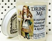 Drink Me (Earl Grey and Apple) soy candle Vintage Alice in Wonderland inspired