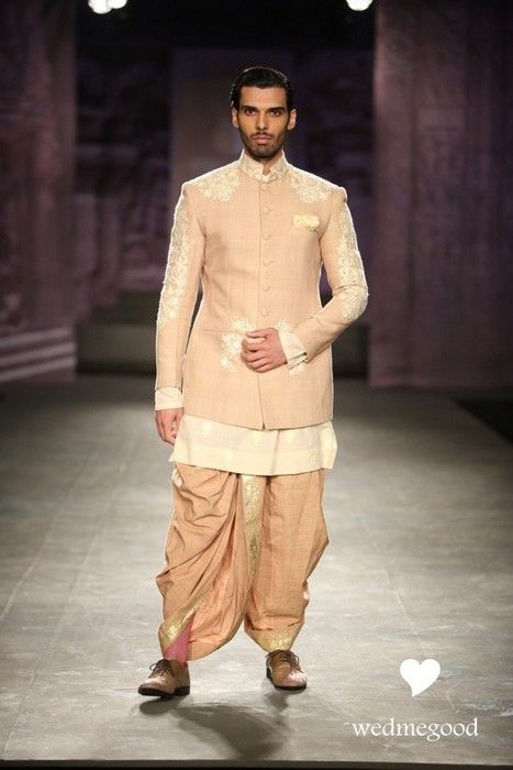 Indian Groom Wear - Anju Modi India Couture | WedMeGood #wedmegood