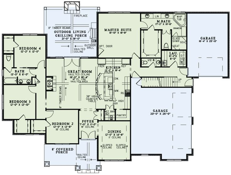 Nelson design group 1428 timberland cove home for Timberline homes floor plans