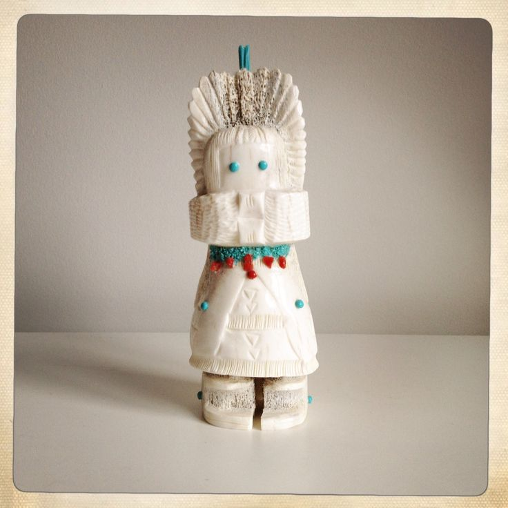 Zuni Fetishes are believed to have inherent powers or qualities that may aid the owner. This lovely Corn Maiden represents strength, creation and wisdom. I hope even a little rubs off on me.