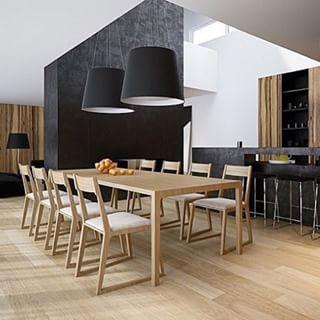 Instagram photo by interiorsme - #diningroom #diningtable #table #floorboards #oakonoak #blackpendantlights #black #interiors #interiordesign #design #designer #architecture #architect #contemporary #ime #interiorsme #blackandwhite #luxuryliving