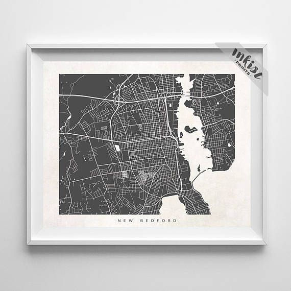 New Bedford Map, Massachusetts Print, New Bedford Poster, Massachusetts Art, Arty Print, Holiday Gift, Playroom Art, Christmas Gift, Wall Art. PRICES FROM $9.95. CLICK PHOTO FOR DETAILS. #inkistprints #map #streetmap #giftforher #homedecor #nursery #wallart #walldecor #poster #print #christmas #christmasgift #weddinggift #nurserydecor #mothersdaygift #fathersdaygift #babygift #valentinesdaygift #dorm #decor #livingroom #bedroom