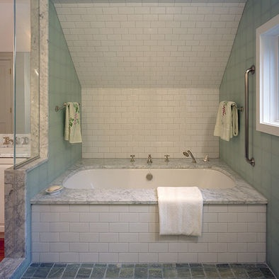 1000 images about upstairs bathroom ideas on pinterest for Sloped ceiling bathroom ideas