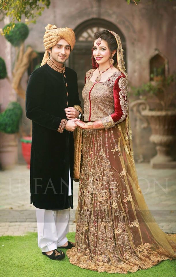 Pakistani bride and groom, Lovely Dress in just US$2100 + FREE Stitching Charges = US$2100 Email us order at hoor@pkbridal.com Join viber at +923332469680