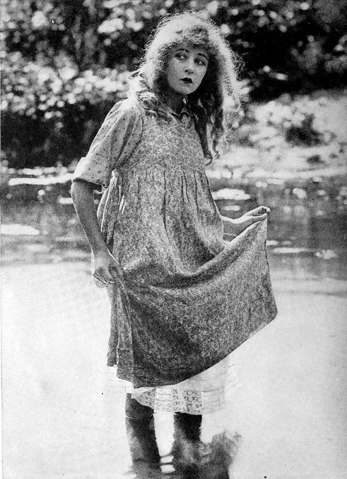 "kittyinva: "" Kittyinva: 1919 from ""Film Fun"" - ""Here is Mildred Harris. She looks a bit alarmed. Perhaps she is frightened by the publicity she has had since she married Charlie Chaplin."" From Silent Film Time Capsule, FB. """