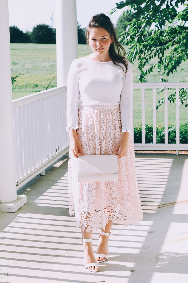 Blush and Lace Outfit Inspo