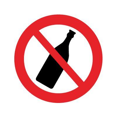 Flasker forbudt - Køb forbudsskilte online hos JO Safety
