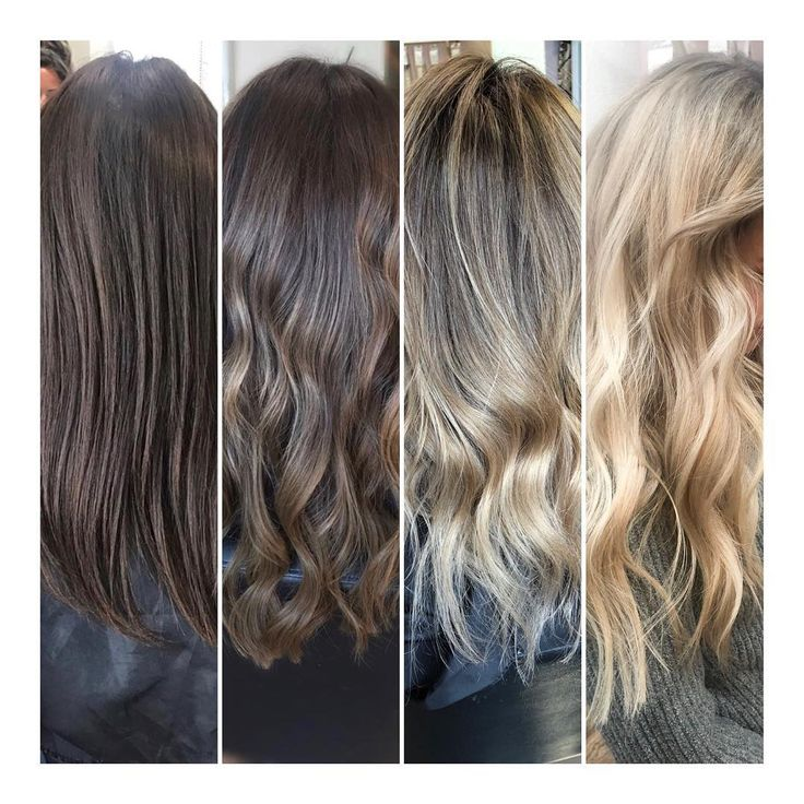 Jessi Gish (@jz.styles) on IG: THE BLONDE PROCESS. She has natural lvl 5 hair, & we have gradually gone lighter in steps. Pic1 June & pic4 December! Take it slow for hair integrity & even result. Natural level 5+ is won't look good with bleach straight on the scalp, which will create banding, uneven lift & breakage. Create more natural results in foils, always keep a root smudge or shadow for low maintenance grow out, & compliment their brows/skin. Use @olaplex in Salon & home, & purple…