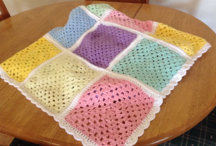 Simple rug. Made from squares crocheted by my dear Mum. Mum passed away 2013, aged 97.