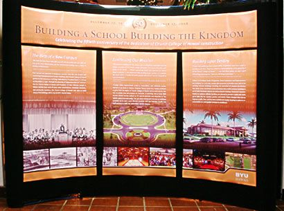 A Display Detailing Aspects Of The History BYU Hawaii Campus Is Located In