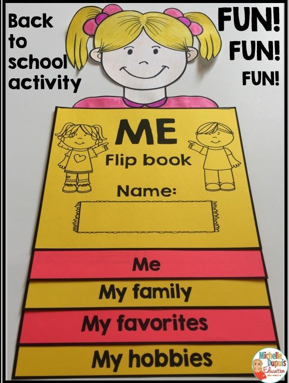 BACK TO SCHOOL ACTIVITY: Get to know your students with this adorable *All About Me Flip Book*. All About Me Family All About Me Favorites All About Me Hobbies