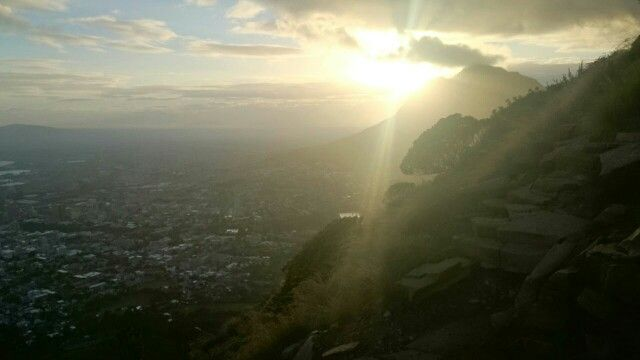 Hike up lions head this morning  #capetown