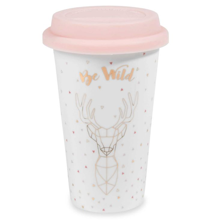 Mug de voyage en porcelaine BE WILD