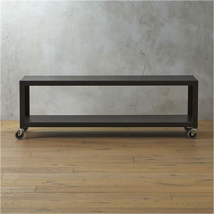 go-cart carbon rolling tv stand/coffee table | CB2