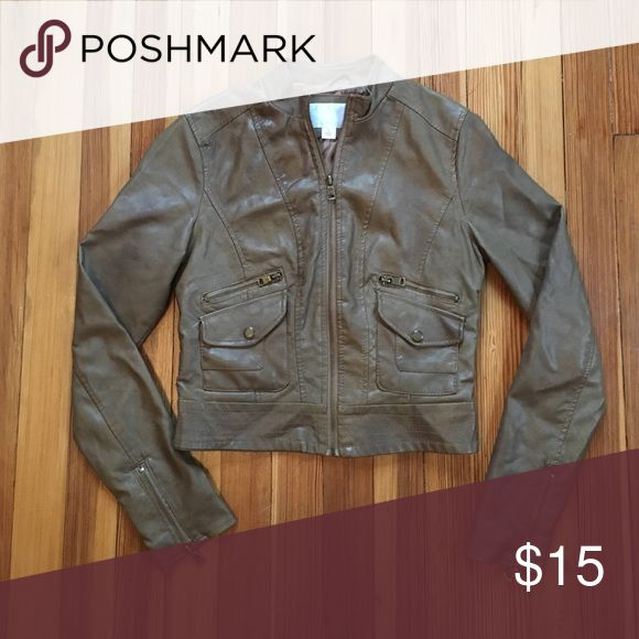 Tan Leather Jacket Size Small Tan Leather Jacket size small in great condition barely worn. Great piece for going out in cooler weather. Jackets & Coats