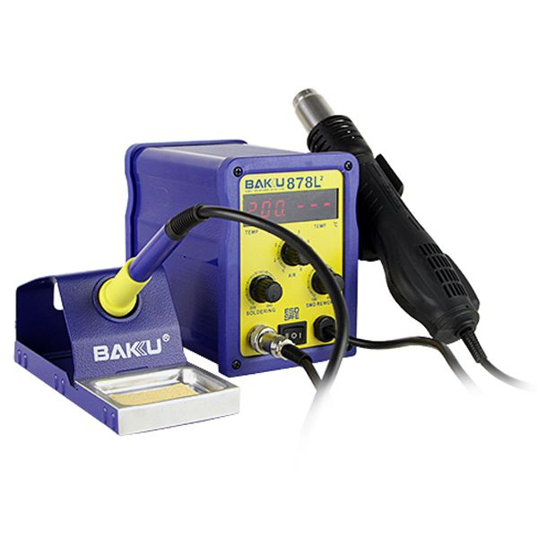 BAKU BK-878L2 700W 230V AU Plug 2 in 1 Rework Station Soldering Iron and Hot Air Gun