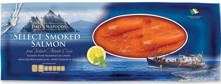 Daly's Smoked Salmon - premium market packaging design solution.